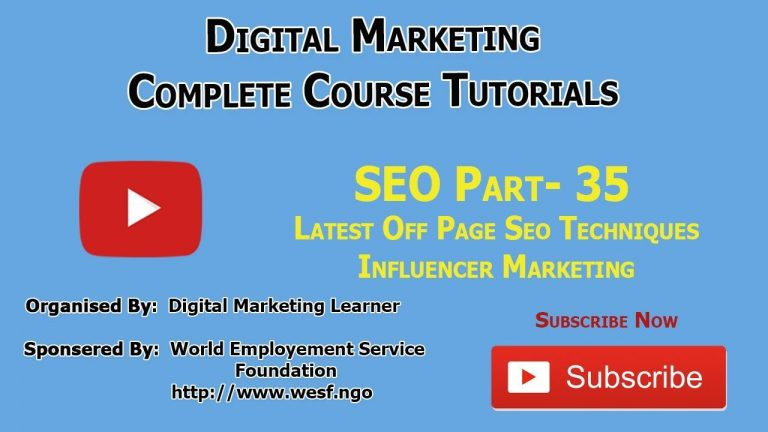 What Is Influencer Marketing in SEO | Digital Marketing Learner Academy | SEO Part – 35