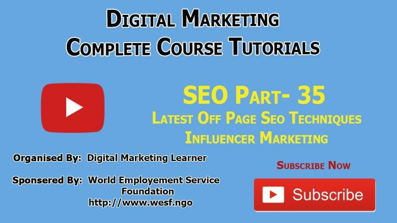 What Is Influencer Marketing in SEO | Digital Marketing Learner Academy | SEO Part - 35