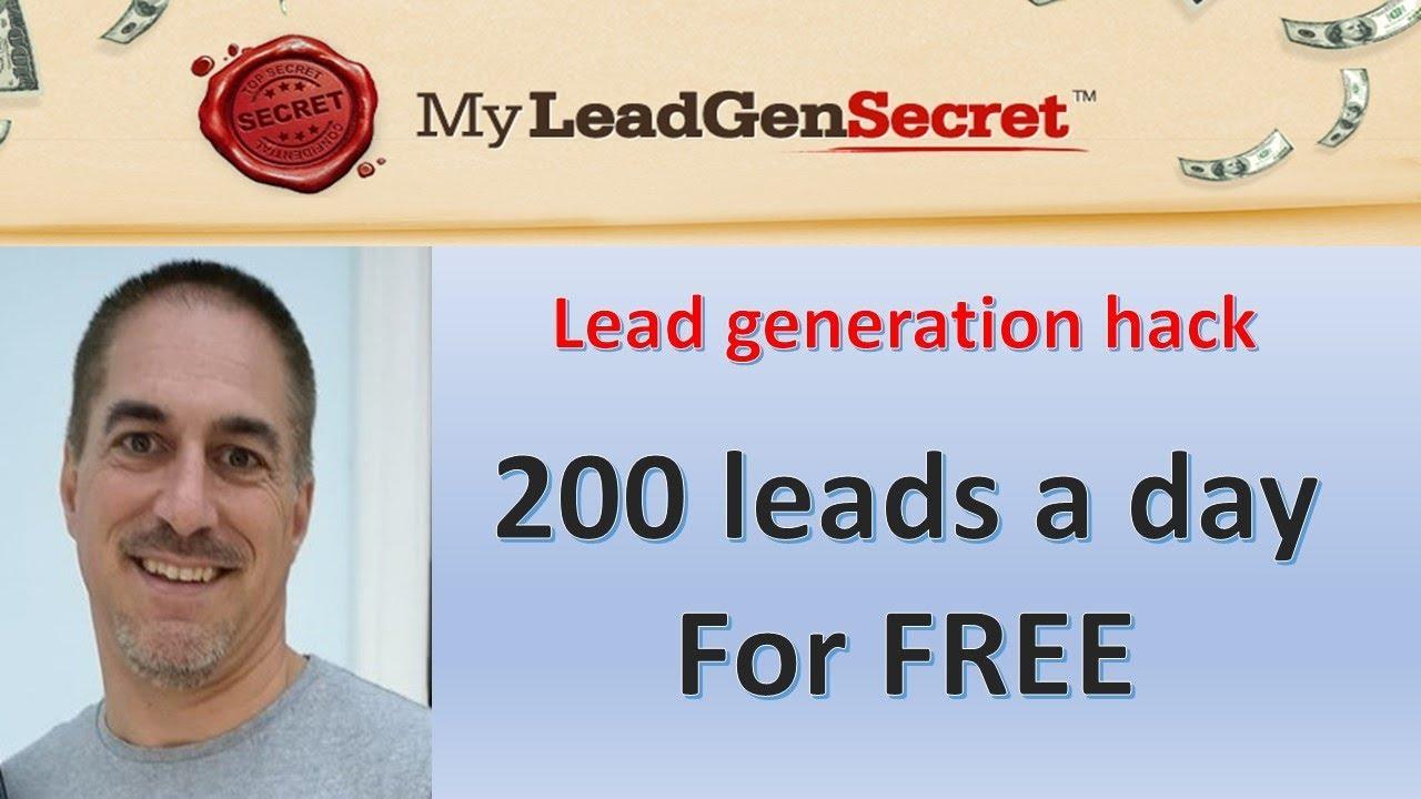 200 Free Leads EVERY DAY : My Lead Gen Secret Traffic Hack (2019)