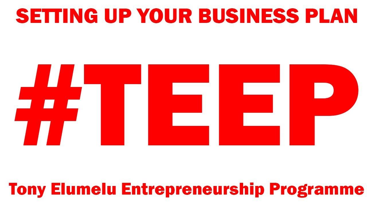 How to Create a Business Plan to Apply for the Tony Elumelu Entrepreneurship Programme