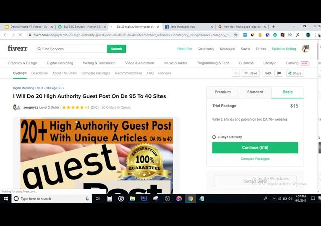How to Make your first $1,000 on Fiverr.
