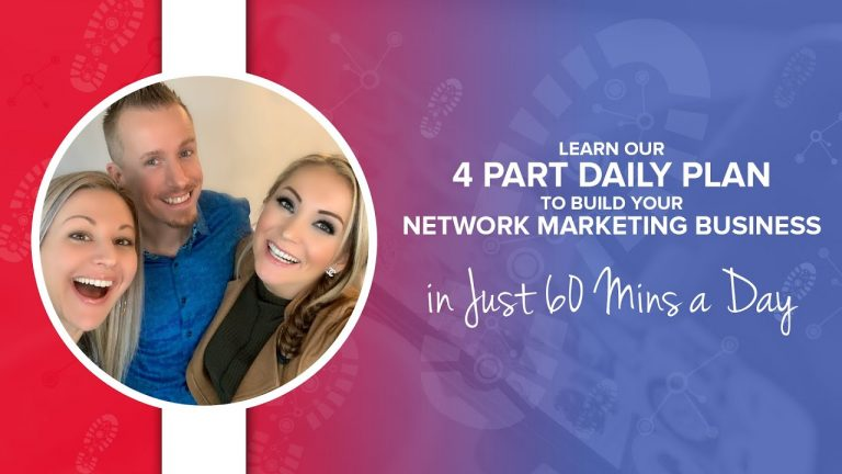 Learn Our 4 Part Daily Plan To Build Your Network Marketing Business In Just 60 Mins A Day