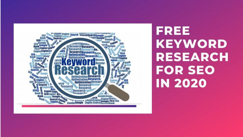 FREE Keyword Research for SEO in 2020 | Any Company