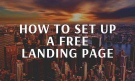 HOW TO SET UP A FREE LANDING PAGE-JOHN CRESTANI & AFFILIATE MARKETING