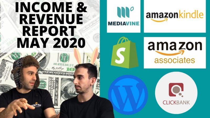 Income Report: Dropshipping, Kindle Publishing, Amazon Affiliate , Clickbank, Mediavine & More