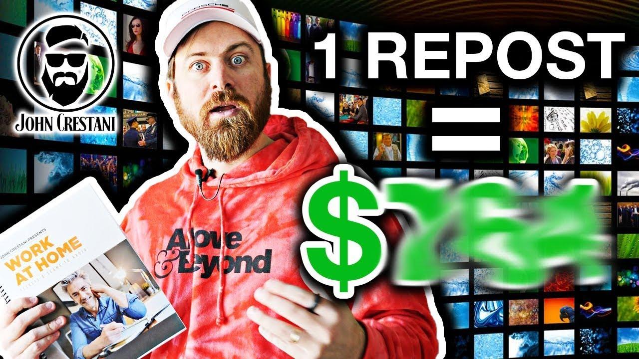 Earn $100 A Day Re-posting Videos (Make Recurring Revenue)  |  John Crestani