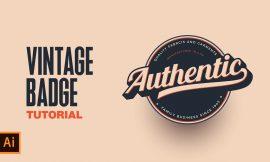 Vintage Badge Logo Design Tutorial – Adobe Illustrator CC