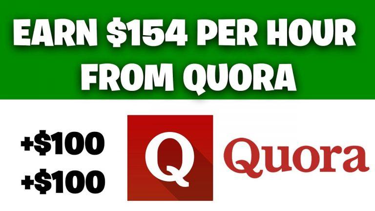 Earn $154 FOR FREE From Quora [Make Money Online]