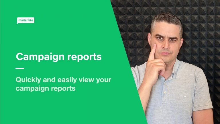 Campaign reports – How to view and understand your email campaign reports in MailerLite
