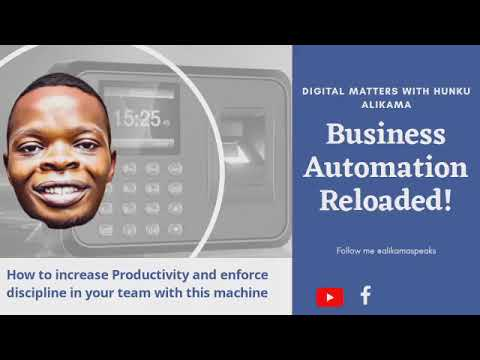 How to Increase Productivity and enforce Punctuality in your Team using this machine