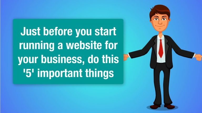 5  'All Important' things to do before starting a website – Quick Tips